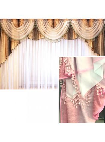 Ламбрекен Тернія L8PW рожево-білий