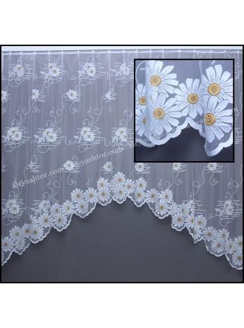 Купить Арка жаккард белого цвета c цветами T606W в Украине
