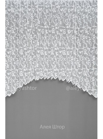Арка жаккард белого цвета с вензелями T640W
