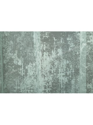 Тюль мятно-зелёный мраморный жаккард T903H