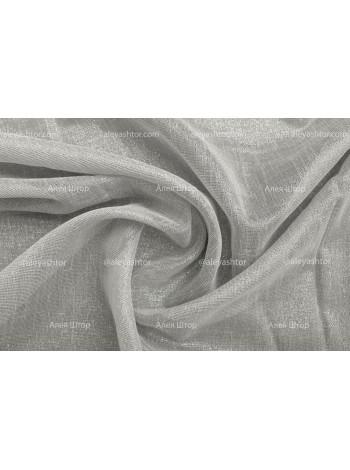 Льняной Тюль T968C (01) светло-серого цвета с люрексовым напылением в Украине