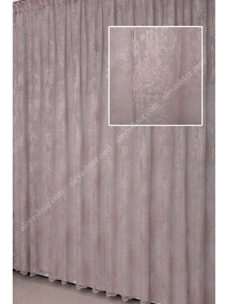 Тюль тёмно-розовый мраморный жаккард T903P