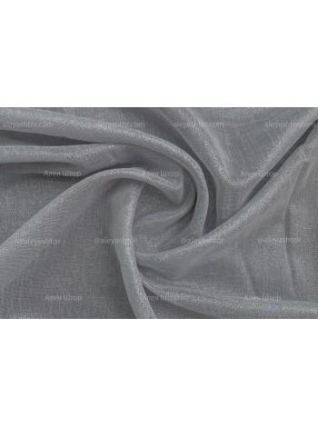 Льняной Тюль T968CCC (06) тёмно-серого цвета с люрексовым напылением в Украине