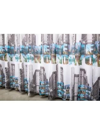 Тюль шифоновый с фотопринтом New York T906ZS