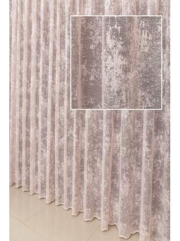 Тюль пудровый мраморный жаккард T903PP