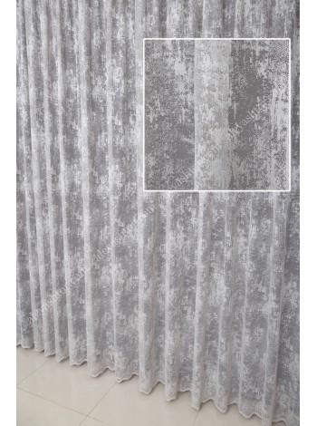Тюль светло-серый мраморный жаккард T903C