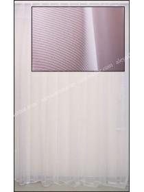 Тюль белый французкий фатин T154W