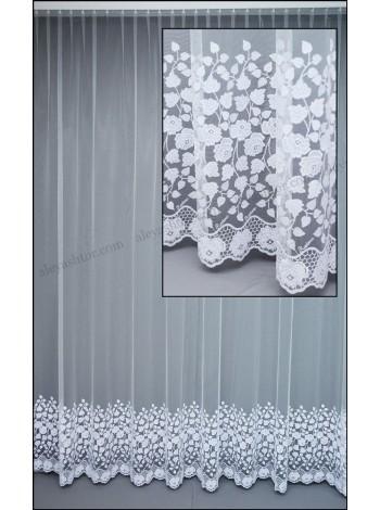 Купить Тюль белый фатин с вышивкой T282W в Украине