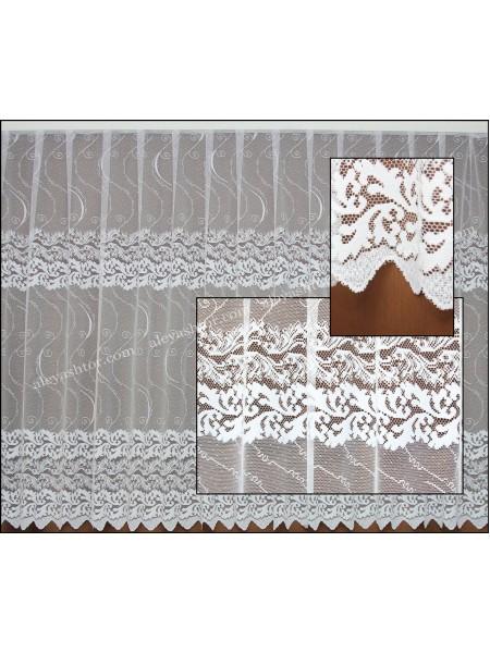 Тюль жаккард белый с абстракцией T510W