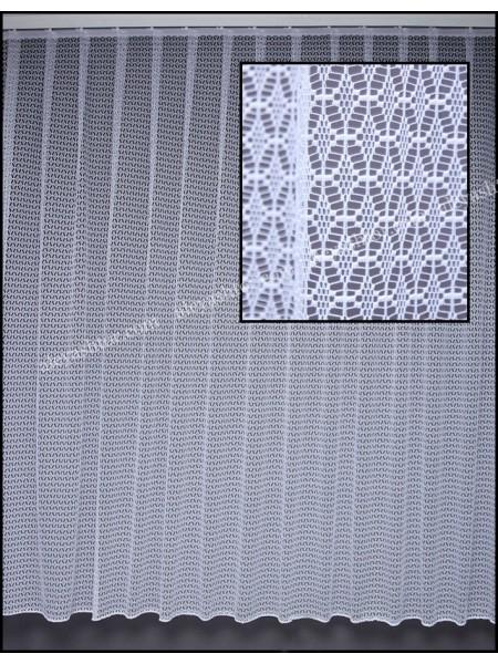 Тюль жаккард белый с абстракцией T519W