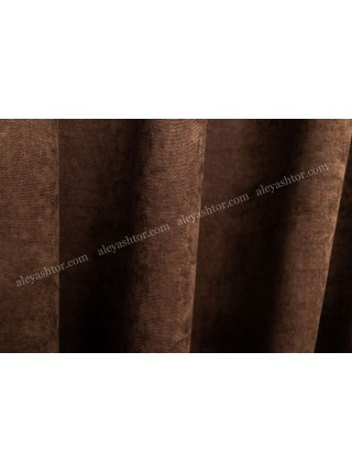 Шторы тёмно-коричневого(6) цвета из микровельвета Diamond BB26B