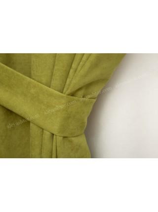 Шторы оливково-зелёного(10) цвета из микровельвета Diamond BB40H2