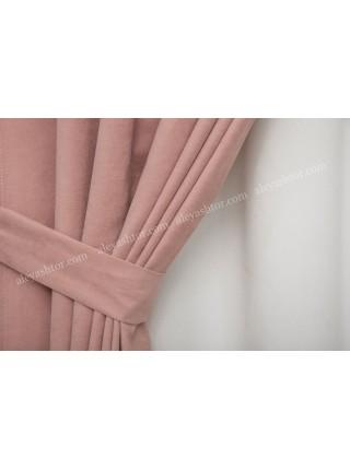 Шторы цвета розовой вишни(26) из микровельвета Diamond BB8P1
