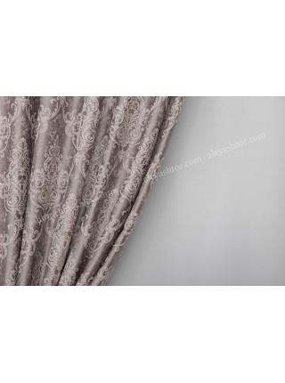 Шторы из жаккардовой ткани пудрово-серого оттенка Жаккард GK1CP