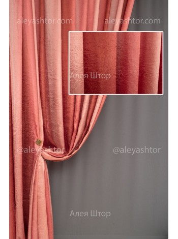 Шторы из ткани Жатка красного цвета JK15R в Украине