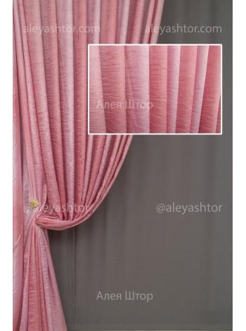 Шторы из ткани Жатка розового цвета JK16P в Украине