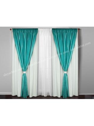 Комплект двойных штор из софта Симфония W S08DM