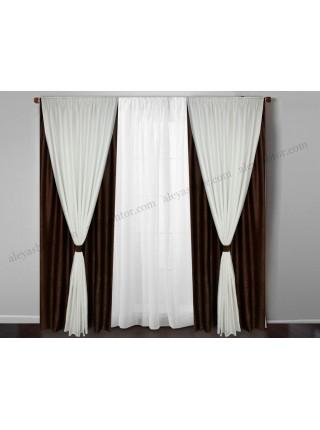 Комплект двойных штор из софта Симфония W S16MB
